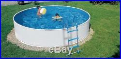 Long Life Steel Framed Above Ground Swimming Pool incSteps/Skimfilter 12ft /3.6m