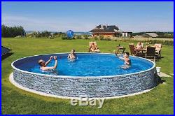 Long Life Steel Framed Stone Effect Above Ground Swimming Pool 4m or 5m