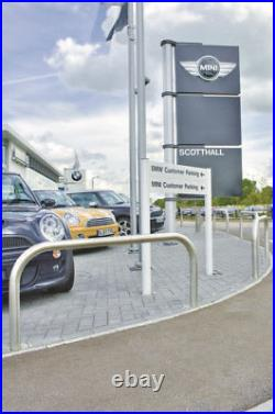 MARSHALLS RHINO RB60 STEEL SECURITY HOOP BARRIER 1400mm w x 500mm above ground