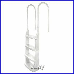 Main Access 200200 Easy Incline Above Ground In Pool Swimming Pool Ladder, White