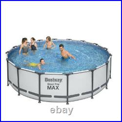 NEW 16ft x 48inch BESTWAY PRO STEEL FRAME SWIMMING POOL SET ROUND ABOVE GROUND