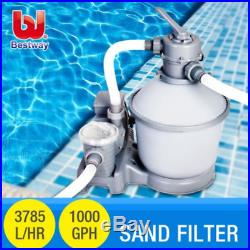 NEW Bestway 58400 Flowclear Pool Water Pump with Sand Filter 1000GPH 3785L/H
