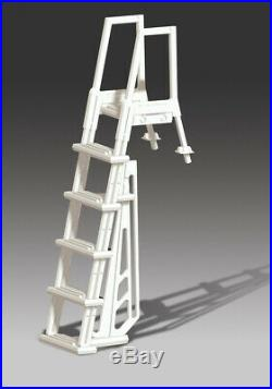NEW STRONG & STURDY POOL LADDER STEPS for ABOVE GROUND SWIMMING POOLS with DECKS