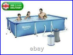 NEXT DAY DELIVERY! Bestway SWIMMING POOL 10ft Rectangular Above Ground Pool