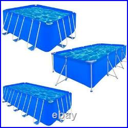 New Above Ground Garden Swimming Pool Steel Frame Rectangular Summer Fun3Sizes