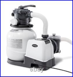 New Intex 26645eg 2100 GPH Above Ground Easy Set Pool Sand Filter Pump