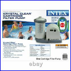 New Intex 28635EG 1500 GPH Above Ground Swimming Pool Pump Filter System In-Hand