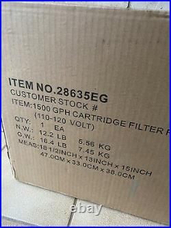 New Intex Krystal Clear 635T Cartridge Filter Pump 1500 GPH Above Ground Pool