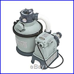 New Krystal Clear Sand Filter Pump for Above Ground Pools 1200 GPH Pump Flow