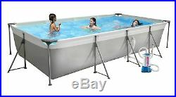 New Plast above Ground Swimming Pool Silver Frame 400 Top 3,95 x 2,10 H 0,80 M