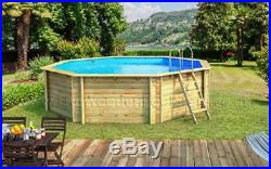 Odyssea Octo 530 Octagonal 5.25m Above Ground Wooden Swimming Pool 133cm