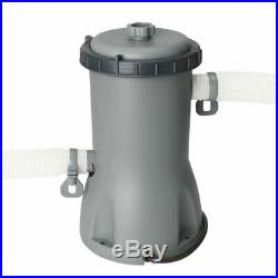 Pool 488x305x107cm+pump swimming above cartridge steel Bestway ground filter