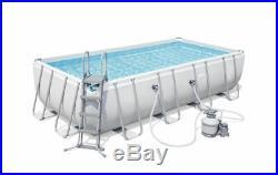 Pool C / Frame above Ground Pump Ladder Tarpaulin 488X244X122CM Bestway