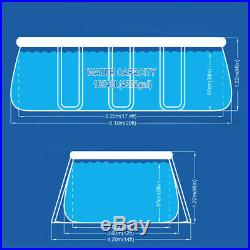Pool Oval above Ground Structure 610x360x122cm + Ladder Pump Sheeting