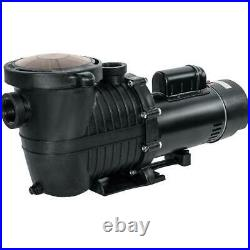Pool Pump 2HP Thermal Protected In/Aboveground 5850GPH with Strainer 230V 1.5 UL