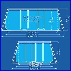 Pool Rectangular Above-Ground Layout 290x200h99cm Pump + Ladder 17725eu