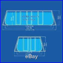 Pool Rectangular Above-Ground Structure 400x200xh99cm + Pump & Ladder 17726