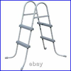 Pool Step Ladder 33 inch Bestway Flowclear Above Ground Metal Frame Swimming