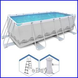 Power Steel Frame Swimming Pool 400x200h99cm Set Round Above Ground 17726EU