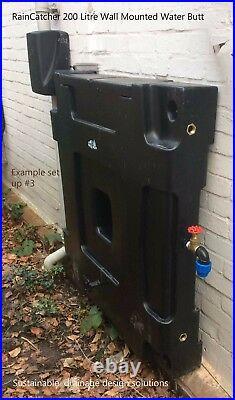 RainCatcher 200 Litre Wall Mounted Rainwater Tank with Fixings-Designer Tank-OFFER