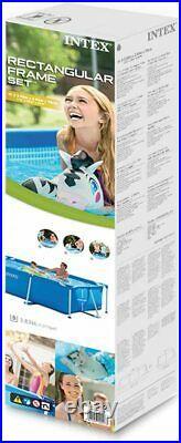 Rectangular Swimming Pool Above Ground Outdoor Summer Kids Fun Garden Paddling