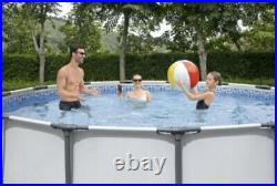 Round Frame SWIMMING POOL 366 x 76cm 12FT Garden Above Ground Pool with PUMP SET