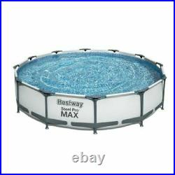 STEEL PRO SWIMMING POOL 12ft 76.2cm Garden Round Above Ground Pool with PUMP SET