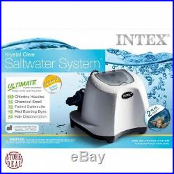 Saltwater Pool Filter System Krystal Clear 7000 Gallons Water Intex Above Ground