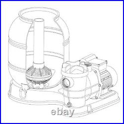 Sand Filter System Pump Tank Above Ground Swimming Pool Spa Water Filtration