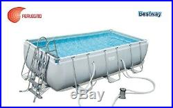 Set above Ground Swimming Pool Rectangular Frame Pump Scale ART. 8314 Bestway