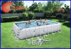 Set above Ground Swimming Pool Rectangular Rigida Pump Ladder Top ART. 11248