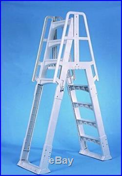 Slide Lock Design A Frame Above Ground Pool Adjustable Ladder