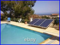Solar Pool Pump Brush Type 1/2HP 72v 2 PV Solar Panels Above Ground Pool Motor