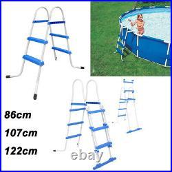 Steel Frame Pool Safety Ladder Non-Slip Steps for Above Ground Swimming Pools