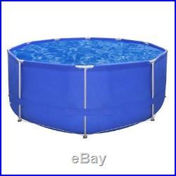 Steel Round Swimming Pool Steel Frame Above Ground Garden Backyard Heavy-duty UK