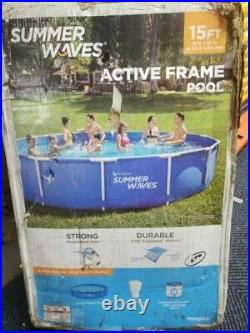 Summer Waves 15' x 33 Metal Frame Above Ground Swimming Pool