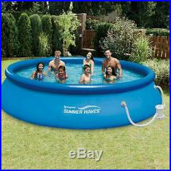 Summer Waves 15ft x 36in Quick Set Inflatable Above Ground Pool & Pump SHIPS NOW