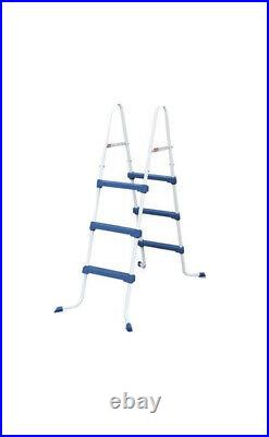 Summer Waves 36 Inch SureStep Outdoor Above Ground Swimming Pool Ladder, Blue