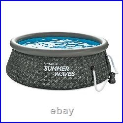 Summer Waves 8ft x 2.5ft Above Ground Inflatable Outdoor Swimming Pool with Pump