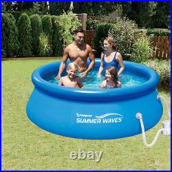 Summer Waves 8ft x 8ft x 2.5ft Inflatable Above Ground Pool with Filter Pump