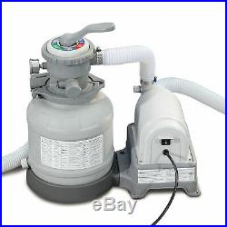 Summer Waves Clear Water Swimming Pool Sand Filter Pump 10 GFCI Ground System