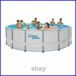 Summer Waves Elite 16ft x 48' Above Ground Swimming Pool Frame with pump + ladder