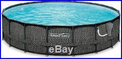 Summer Waves Elite Frame Wicker 18ft x 48in Above Ground Pool Filter Pump