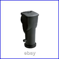 Summer Waves SkimmerPlus 1500 Gallon Above Ground Framed Pool Filter Pump, Black