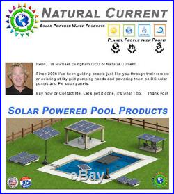 SunRay Above Ground 4 100w Panel 68v DC 0.5HP Pond USA Solar Swimming Pool Pump
