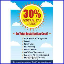 SunRay SolFlo2 USA 2 Solar Panels 60VDC Filter Pump Solar Power DC Pool Pump