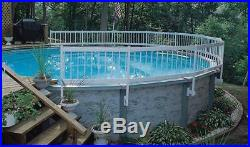 Swim Pool Fence Above Ground Base Kit 8 Section Outdoor Yard 24 Safety NEW