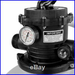 Swimming Pool 16-inch Sand Filter with 3,100 GPH 3/4 HP Pool Pump Timer Set