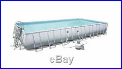 Swimming Pool C/frame Above Ground Pump Ladder Tarpaulin 956x488x132cm Bestway