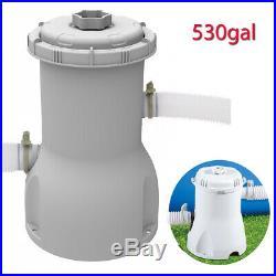 Swimming Pool Filter Pump & Cartridge for 8ft/10ft/12ft Pool 300/530GA Flowclear